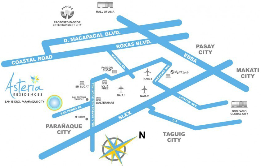 Asteria Residences Location Map