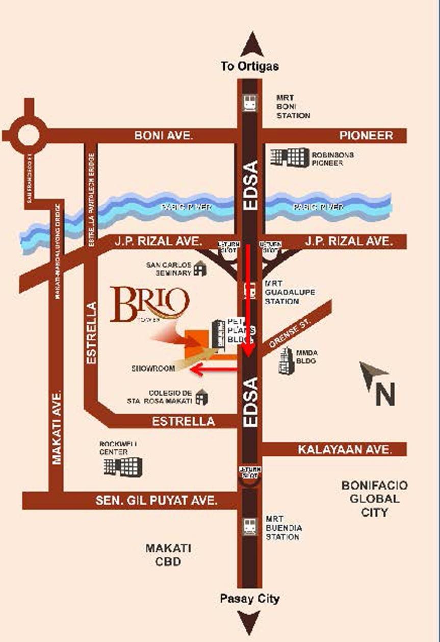 Brio Tower Location Map
