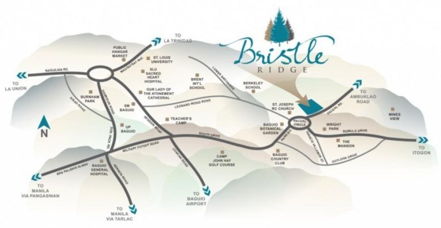 Bristle Ridge Location Map
