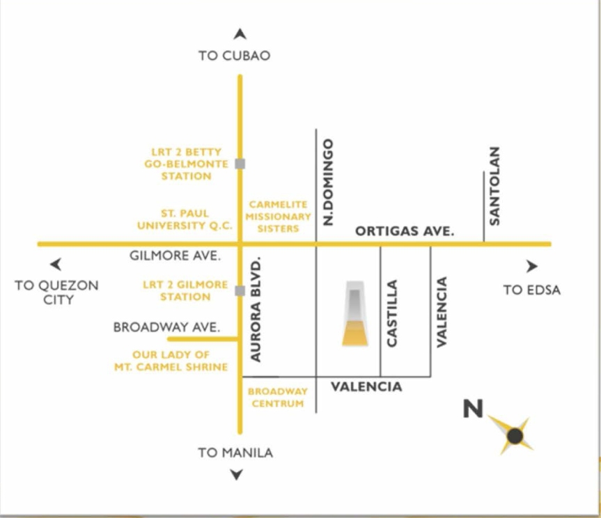 One Castilla Place Location Map