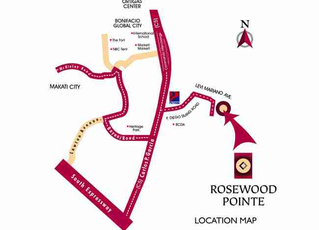 Rosewood Pointe Location Map