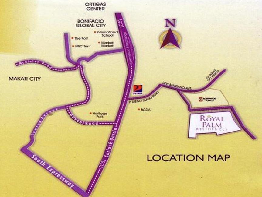 Royal Palm Residences Location Map 2