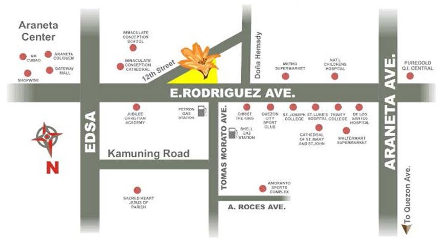 The Amaryllis Location Map