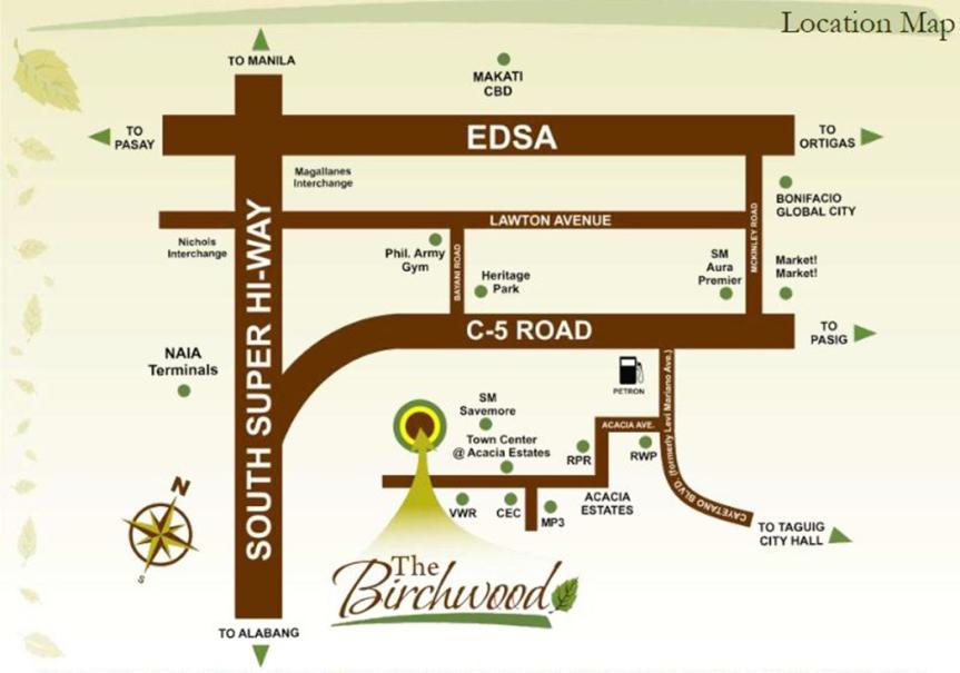 The Birchwood Residences Location Map